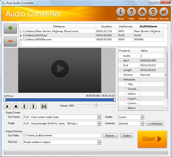 Jfuse Audio Converter Screenshot 1