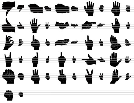 Black Hand Icons Screenshot 1