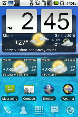 Animated Weather Widget Screenshot