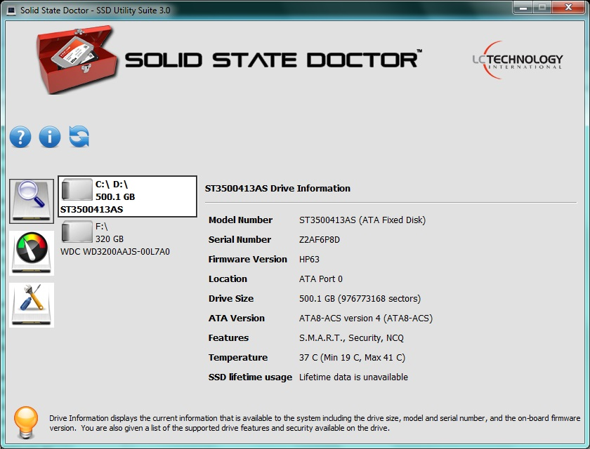 Solid State Doctor Screenshot