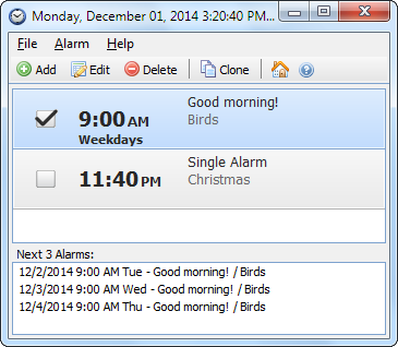 Free Alarm Clock Screenshot