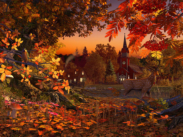 Autumn Wonderland 3D Screensaver Screenshot 1