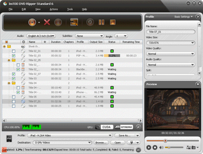 ImTOO Ripper Pack Gold Screenshot 1