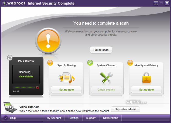 Webroot Internet Security Complete Screenshot