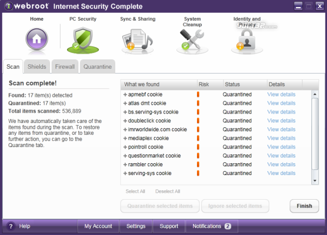 Webroot Internet Security Complete Screenshot 2