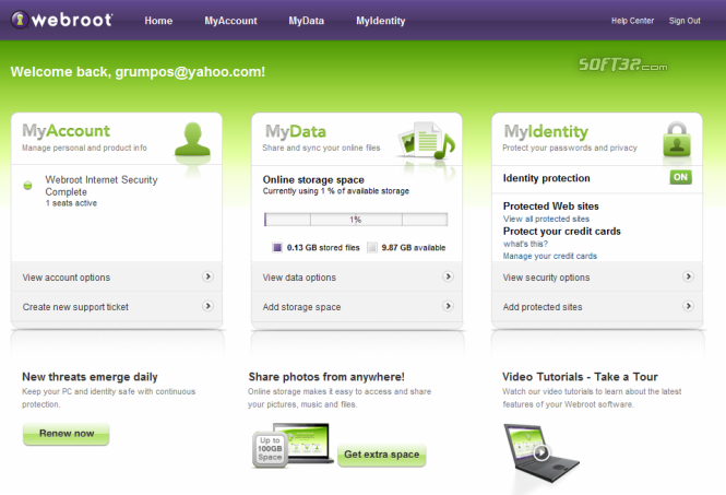 Webroot Internet Security Complete Screenshot 5