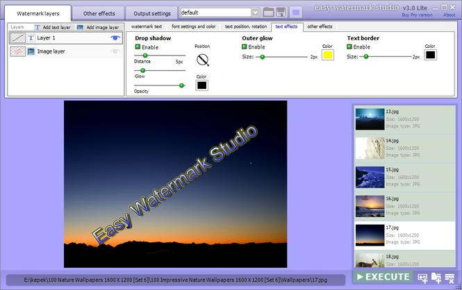 Easy Watermark Studio Lite Screenshot
