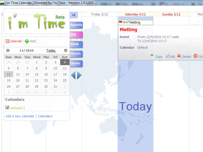 i'm Time Calendar Screenshot