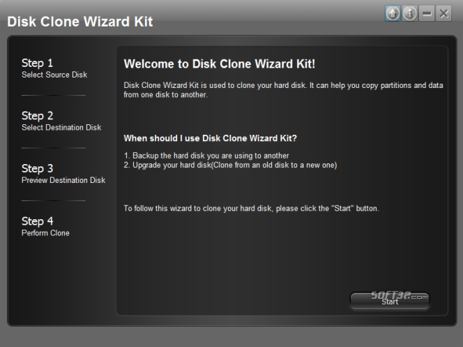 Disk Clone Wizard Kit Screenshot