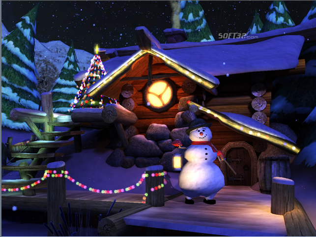 Santa's Home 3D Screensaver Screenshot