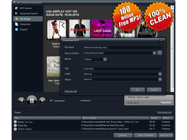 MP3 Rocket Download Screenshot 1