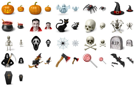Desktop Halloween Icons Screenshot