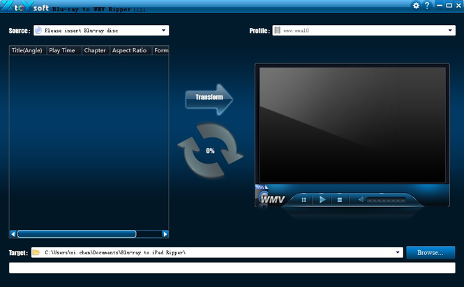XtoYsoft Blu-ray to WMV Ripper Screenshot