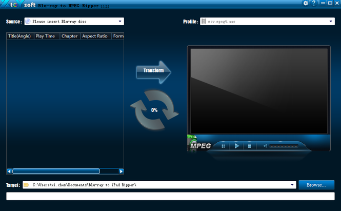 XtoYsoft Blu-ray to MPEG Ripper Screenshot 1