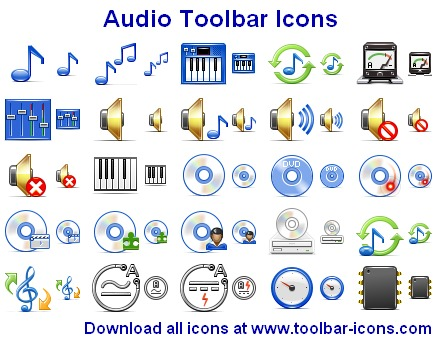Audio Toolbar Icons Screenshot 2