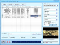 DDVideo DPG to Palm Video Gain Screenshot