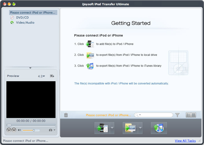 iJoysoft iPod Transfer Ultimate for Mac Screenshot 1