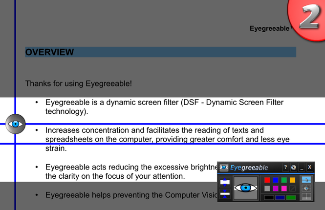 AureoSoft Eyegreeable Personal Edition Screenshot 1