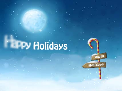 Happy Holidays Screensaver Screenshot