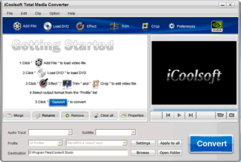 iCoolsoft Total Media Converter Screenshot 1