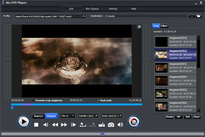 Aku DVD Ripper Screenshot