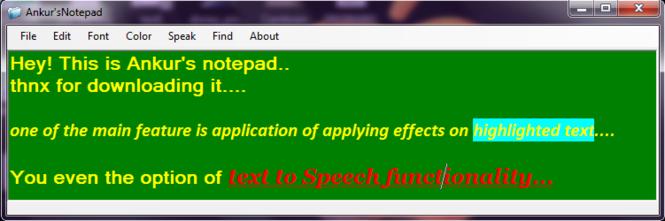 Ankur's_Notepad Screenshot