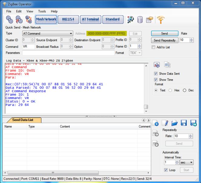 ZigBee Operator Screenshot