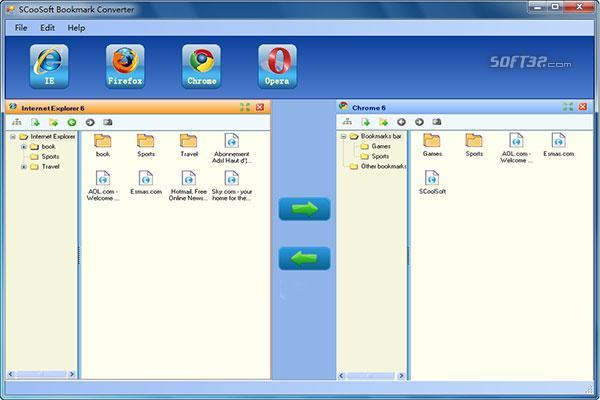 SCoolSoft Bookmark Converter Screenshot 2