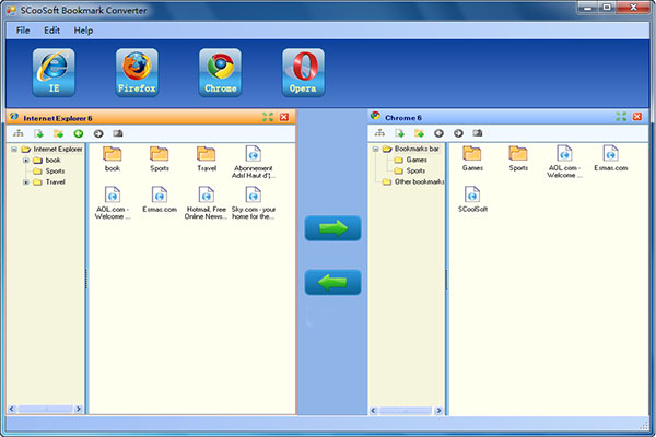 SCoolSoft Bookmark Converter Screenshot 1