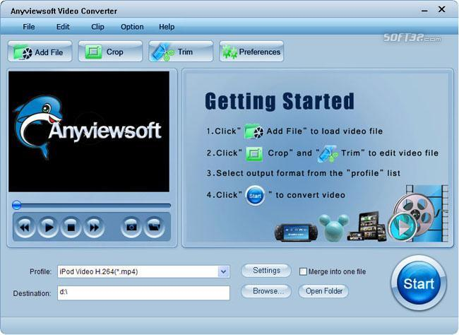 Anyviewsoft Video Converter Screenshot 2
