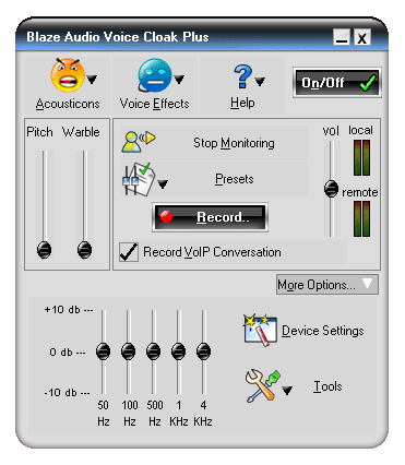 Blaze Audio Voice Cloak Plus Screenshot 2