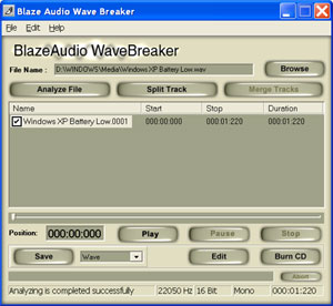 Blaze Audio Wave Breaker Screenshot