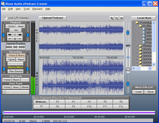 Blaze Audio ePodcast Creator Screenshot 1
