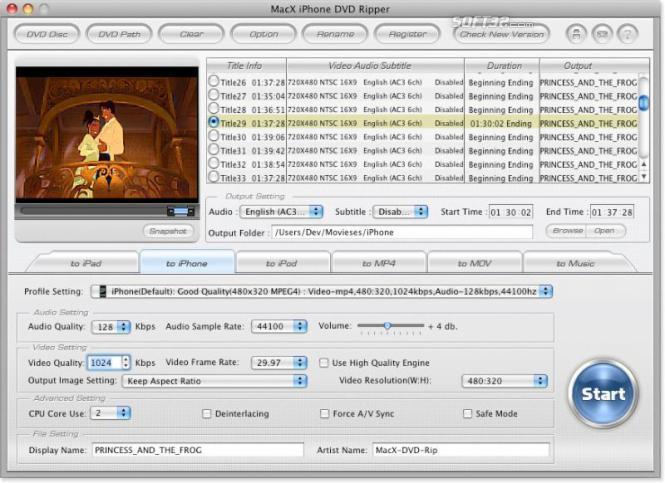 MacX iPhone DVD Ripper Screenshot 3