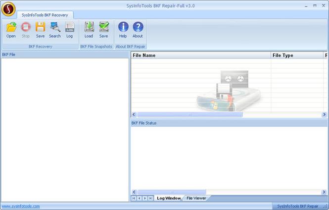 SysInfoTools BKF Repair Screenshot