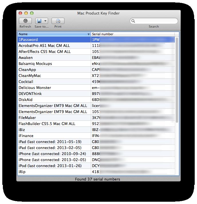 Mac Product Key Finder Screenshot 3