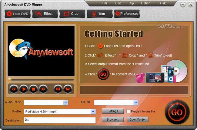 Anyviewsoft DVD Ripper Screenshot 2