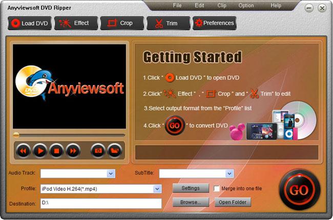 Anyviewsoft DVD Ripper Screenshot 1