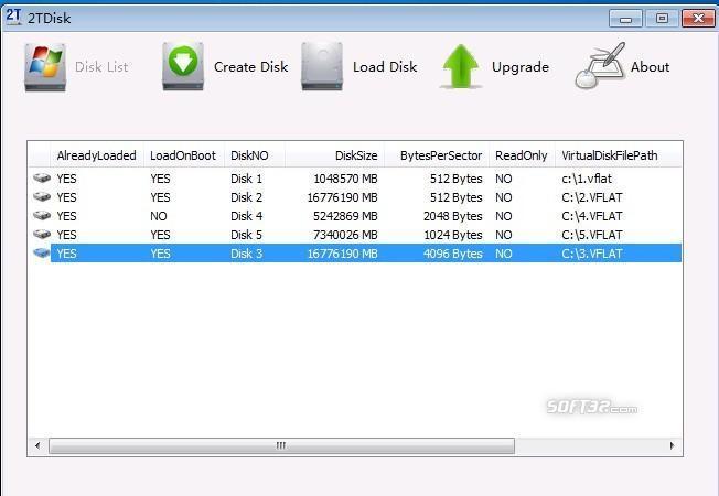 2T Disk Simulator Screenshot 3