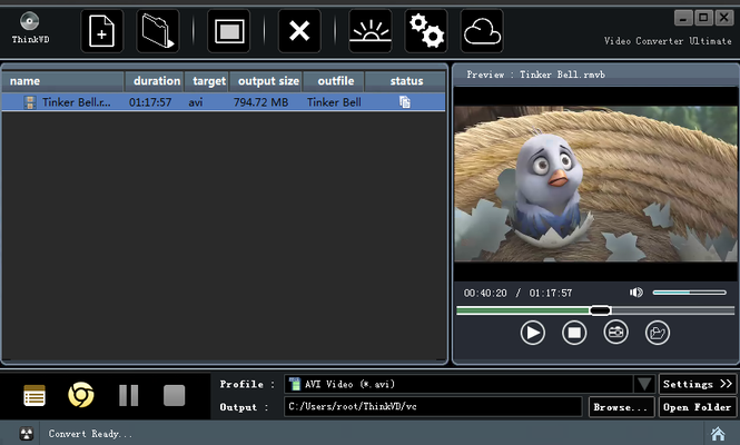ThinkVD FLV Video Converter Screenshot 1