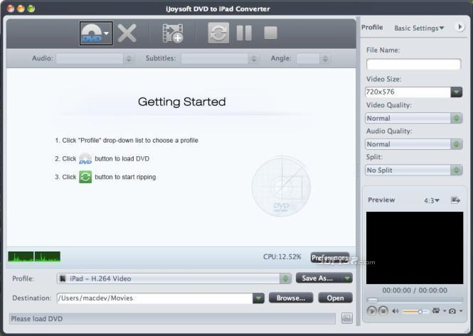 iJoysoft DVD to iPad Converter for Mac Screenshot 2