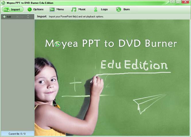 Moyea Christmas PPT to DVD Burner Edu Edition Screenshot