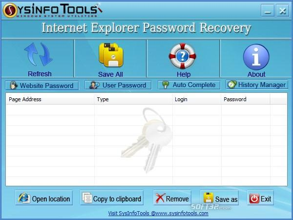 SysInfoTools IE Password Recovery Screenshot 3