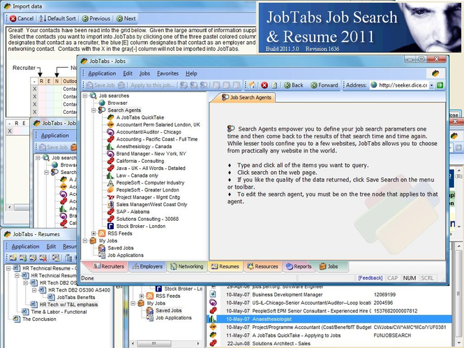 JobTabs Job Search and Resume 2011 Screenshot
