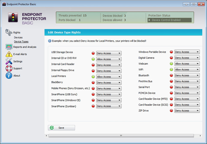Endpoint Protector Basic Screenshot