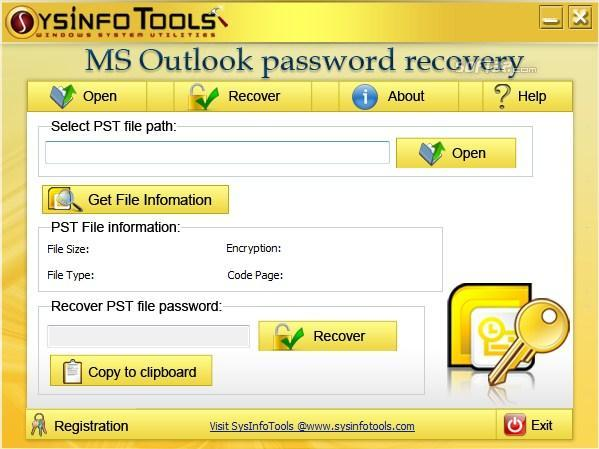 SysInfoTools MS Outlook Password Recovery Screenshot 3
