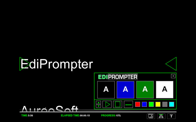 EdiPrompter Personal Edition Screenshot