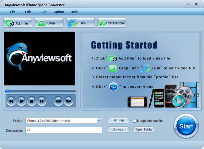 Anyviewsoft iPhone Video Converter Screenshot