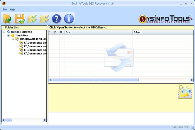 SysInfoTools Outlook Express Email Recovery Screenshot 1