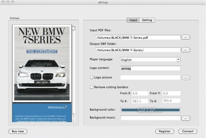 aXmag PDF to Flash Converter Mac Version Screenshot 2